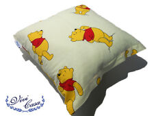 CUSCINO DISNEY WINNIE THE POOH 42X42 CM DIVANO LETTO SALA CAMERA PANNA BIMBO