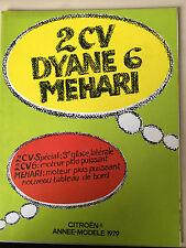 DEPLIANT PUBLICITAIRE ET TECHNIQUE CITROËN ANNEE-MODELE 1979 - 2CV - MEHARI (C3)