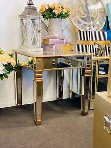 Mirrored Side Table / Square Shape Copper Colour 60*60