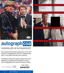 "Rare VINCE McMAHON signed Autographed ""WWF"" 8X10 PHOTO - PROOF - wwe ACOA COA"