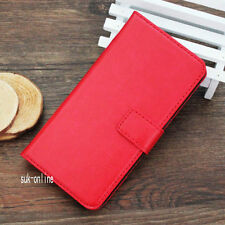 HTC ONE M8 Luxury Leather Pouch Flip Stand Wallet Protective Case Cover Red
