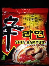 9 Pack Nongshim Shin Ramyun HOT Korean Noodle Spicy Tasty Beef Soup Korea Ramen
