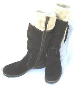 Baretraps Boots womens size 11 Warm Faux Fur Lined with Stay Dry System Brown
