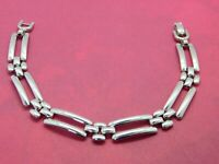 Vintage Napier Bracelet Panther Chain Links Silver Tone 7.5 Inches