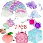 7Pcs Fidget Toys Set Infinity Cube Stress Relief Simple Dimple Tools Bundle Toy