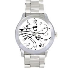 Musical Notes Watch Stainless Steel Watch Piano Violin, Whatever your instrument