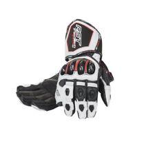 Gants blancs avec doigts en cuir pour motocyclette