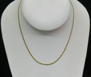 """10K Yellow Gold Link Anchor Chain Made in Italy (753 AR) 16.25"""" Long"""