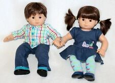 American Girl Bitty Baby Twins Medium Skin Boy & Girl Dolls Set RETIRED