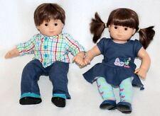 American Girl Bitty Baby Twins Medium Skin Boy & Girl Dolls Set RETIRED