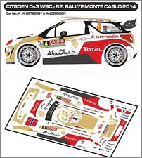 DECALS 1/43 CITROËN DS3 WRC #4 - OSTBERG - MONTE CARLO 2014 - MF-ZONE D43279