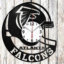 Atlanta Falcons Vinyl Wall Clock Made of Vinyl Record Original gift 2182