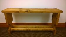 Wooden hall bench with shoe rack pine with oak finish handmade