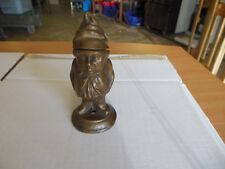 ancien pyrogene ou encrier en metal doré (lourd)11cm de haut