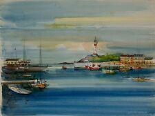 Sacha CHIMKEVITCH- Peinture originale - Petit port Normand 3