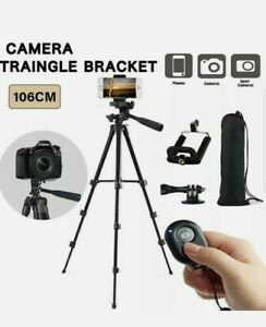 Universal Tripod Stand Telescopic Camera Selfie Phone Holder For iPhone Samsung