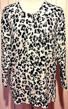 Snow Leopard Button Down Sweater by Merona XXL Brand New No Tags GORGEOUS