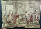 48x67 vintage woven Belgium tapestry, depicting mid 17th century  aristocracy