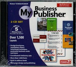 My Software My Business Publisher Pc Brand New 2 Cd Set XP 5 Minutes To Learn