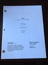 "FRIENDS ""The One With The Flashbacks"" Script Final Draft, Great Show & Keepsake"