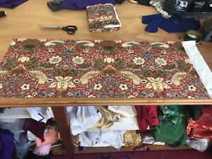 William Morris Strawberry Thief Cotton Fabric 50cm x 137cm Remnant Piece