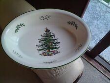 SPODE Christmas Tree GRANDE Profondo OVALE vegetale Baker Aperto al servizio ciotola piatto