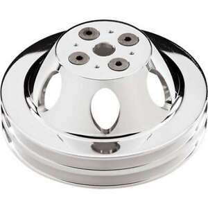 Polished BBC 2 Groove Upper Pulley BILLET SPECIALTIES 82220