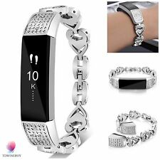 Silver Stainless Steel Wristband Band Strap Bracelet Accessories For FITBIT ALTA