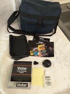 Vintage Vivitar  Accessories, Case Only, Cleaners,Vivitar Blue Bag, No Camera