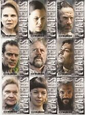 2018 Topps The Walking Dead Hunters and Hunted 9 Card Leaders Insert Set