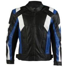 Giacche pelle bovini blu per motociclista