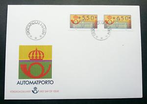 [SJ] Sweden 1994 ATM (frama label FDC