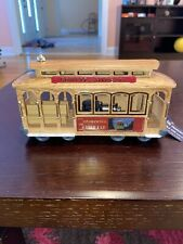Vintage San Francisco Cable Car Music Box Powell and Hyde Sts Trolley