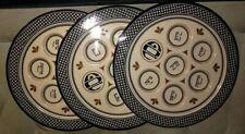 "Plastic Seder Siddur Plates for Passover Pesach - 3 @ 12"" Diameter"