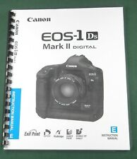 Canon EOS-1Ds Mark II Instruction Manual: Comb Bound & Protective Covers!