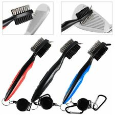 *NEW Golf Brush & Club Groove Cleaner-Retractable Carabiner Clip On-Choose Color