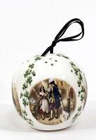 Vintage Ceramic Pomander Ornament Shamrocks by Taylor of London