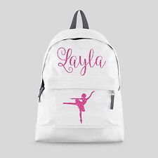 Personalised Kids Backpack - Any Name Cute Dance Ballet Girls School Bag #CBPBA