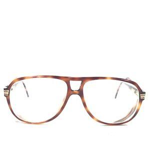Vintage Gucci GG 1100 05L Sunglasses Glasses Frames Aviators Brown Tortoise 145