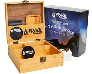 Extra Large Stash Box With Lock and Key, Tray and Smell Proof Pouch Set (NEW)
