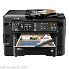 Epson Wireless Inkjet All-In-One Color Printer Scanner Fax High Speed