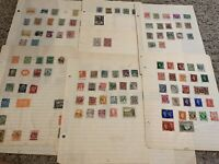 WORLDWIDE STAMP LOT ON PAGES, STAMPS MANY FOREIGN COUNTRIES (NO U.S.)