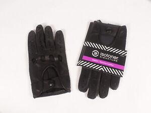 Isotoner Signature Men Gloves Genuine Leather Black L-XL