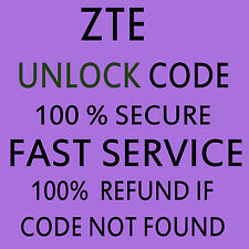 Unlock code For Any ZTE WIFI MODEM DONGLE & Mobile Cell Phone WORLDWIDE