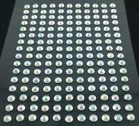 selbstklebende Schmucksteine/ Glitzersteine rund 3 mm silber irisierend
