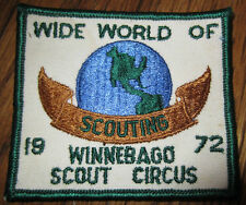Boy Scout Patch Vintage Winnebago Scout Circus 1972