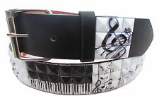 New Unisex 3Row Metal Pyramid Studded Leather Belt Men Womens Punk Rock Goth Emo