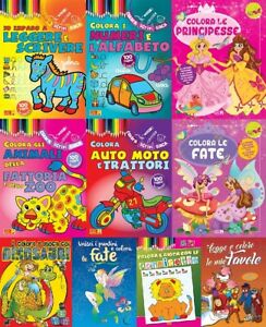 Lotto 10 libri NUOVI - Pacchetto COLORARE COLORO 96 PAG - raccolta stock libri