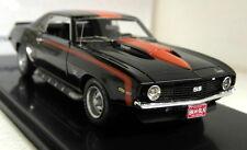 Highway 61 1/43 Scale Chevrolet Camaro SS 1969 Black Red stripe Resin model car