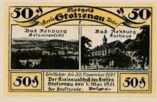 Notgeld Stolzenau Bad Rehburg Jahr 1921 Fünfzig Pfennig Rarität